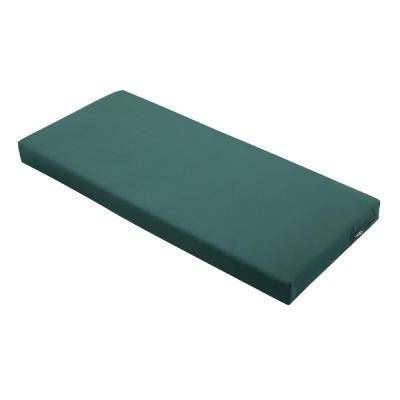 Ravenna Mallard Green 42 in. W x 18 in. D x 3 in. T Rectangular Outdoor Bench/Settee Cushion