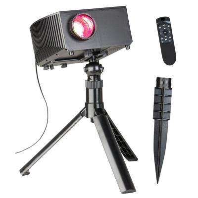 CineMotion Halloween Movies Light Projection Stake with Sound