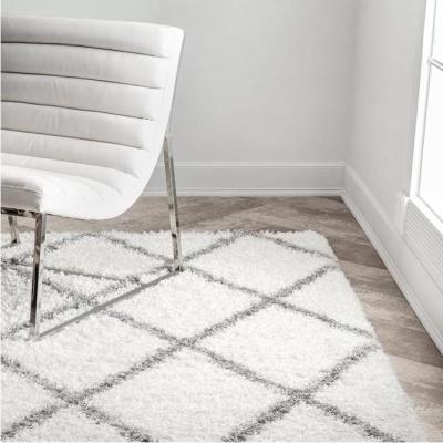 Shanna Easy Shag White 8 ft. x 10 ft. Area Rug