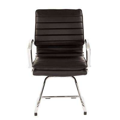 Guest Black Faux Leather Office Chair