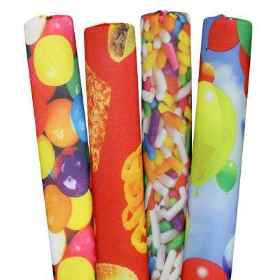 Sprinkles, Gumballs, Foods and Balloons Pool Noodles (4-Pack)