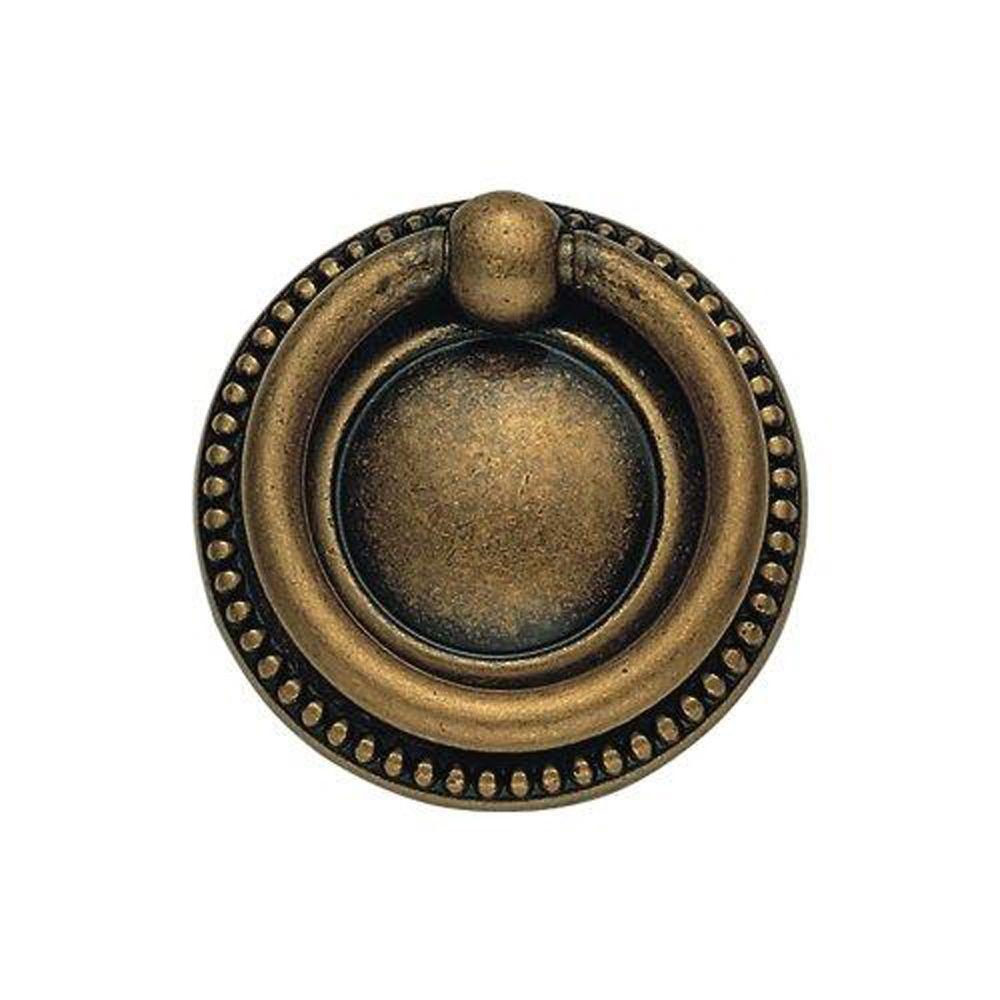 Classic Hardware Bosetti Marella Bosetti Marella Classic Series 1.97 in. Diameter Antique Brass Dark Ring Pull