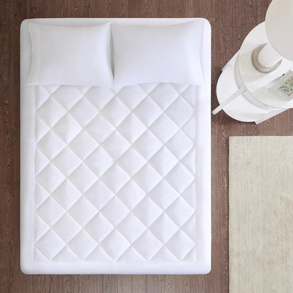 Harmony White Queen Waterproof 3M Scotchgard Moisture Treatment Mattress Protector Pad