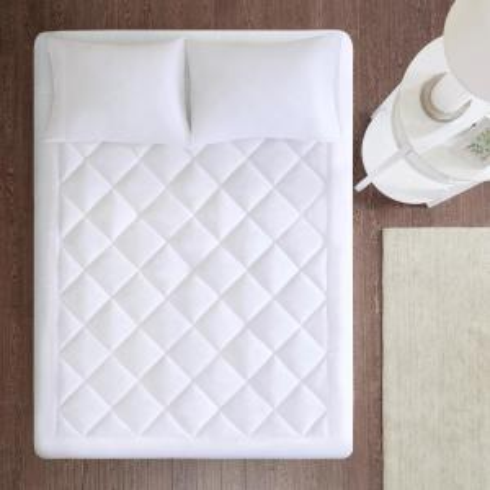 Harmony White King Waterproof 3M Scotchgard Moisture Treatment Mattress Protector Pad
