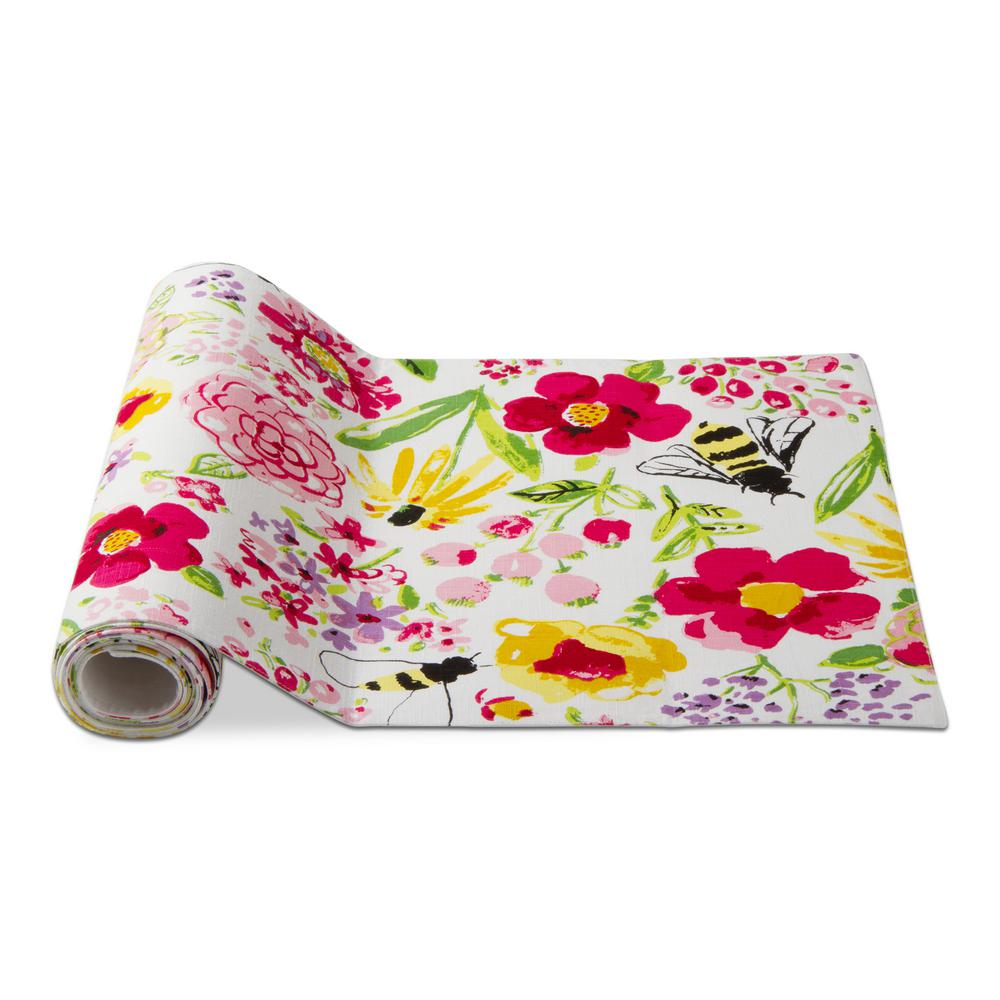 Fresh Flowers Garden Multicolor Cotton Table Runner