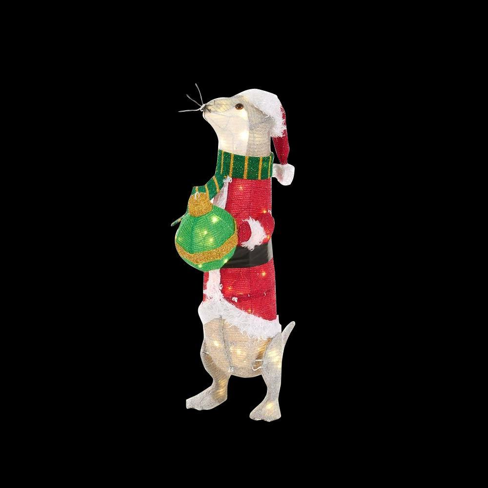 Home Accents Holiday 32 In. LED Lighted Tinsel Otter-TY750