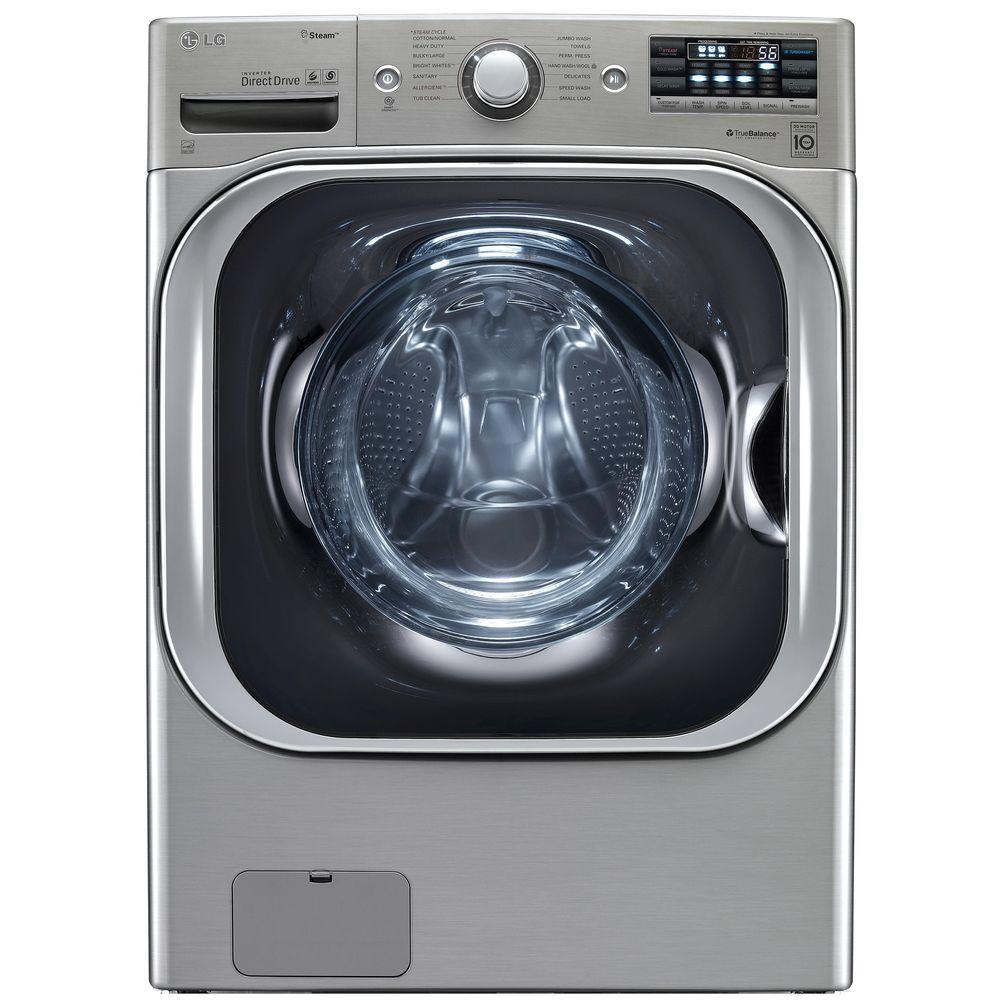 Lg Electronics 5 2 Cu Ft High Efficiency Front Load Washer With Steam And