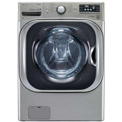 5.2 cu. ft. High-Efficiency Front Load Washer with Steam and TurboWash in Graphite Steel, ENERGY STAR