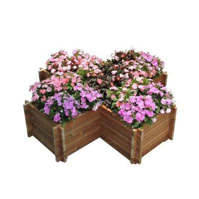62 in. x 15 in. Wood Planter