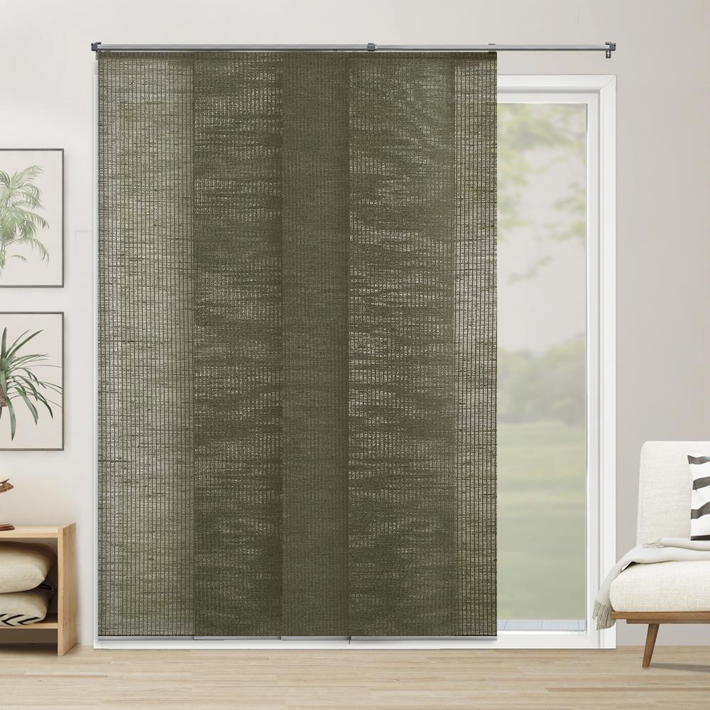 Cut-to-Width Panel Track Blind Elton Oregano Cordless 22 in. Vertical Blind -