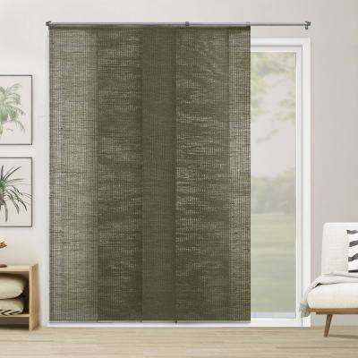 Cut-to-Width Panel Track Blind Elton Oregano Cordless 22 in. Vertical Blind - 80 in. W x 96 in. L