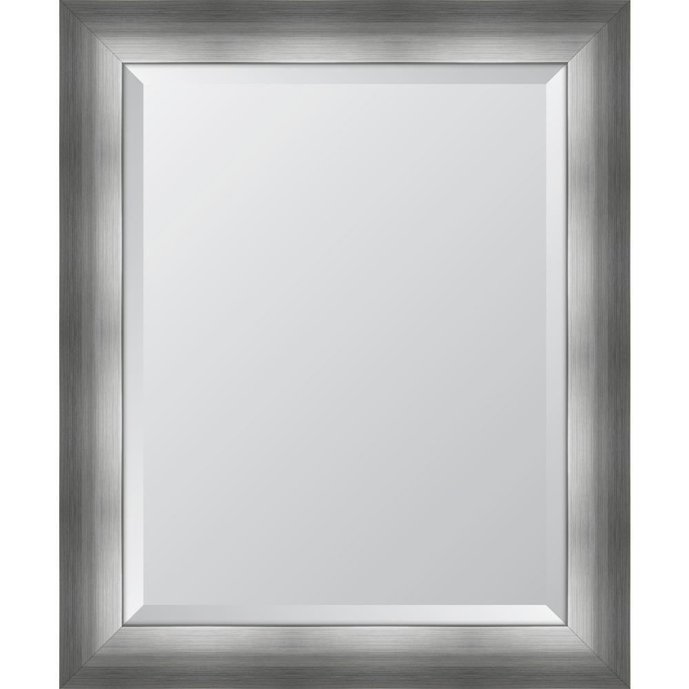 29 in. x 35 in. Framed 3 1/4 in. Chrome Silver Resin Frame Mirror