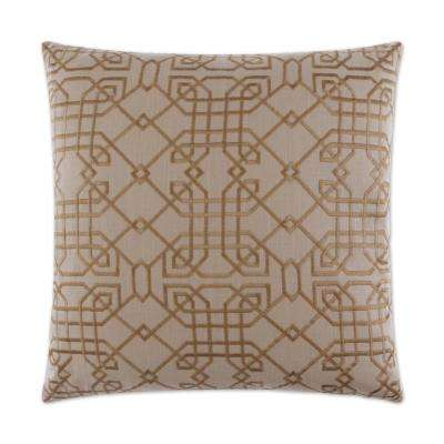 Metropolitan Shell Feather Down 24 in. x 24 in. Standard Decorative Throw Pillow