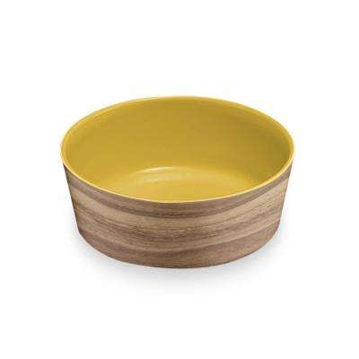 Natural Acacia and Solar Medium Pet Bowl