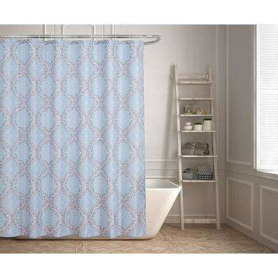 Lexi 70 in. Contemporary Geometric Design Shower Curtain
