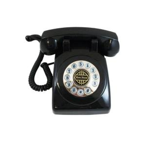 Paramount Analog Corded 1950 Desk Phone With Faux Rotary