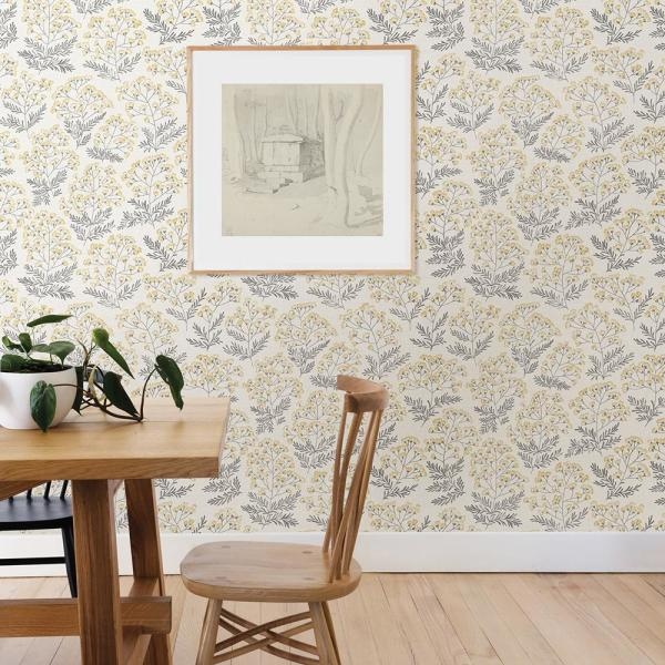 Nuwallpaper Yellow Wethersfield Yellow Wallpaper Sample Nus3546sam The Home Depot