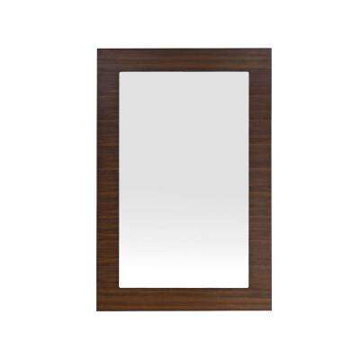Metropolitan 30 in. W x 44 in. H Framed Wall Mirror in American Walnut