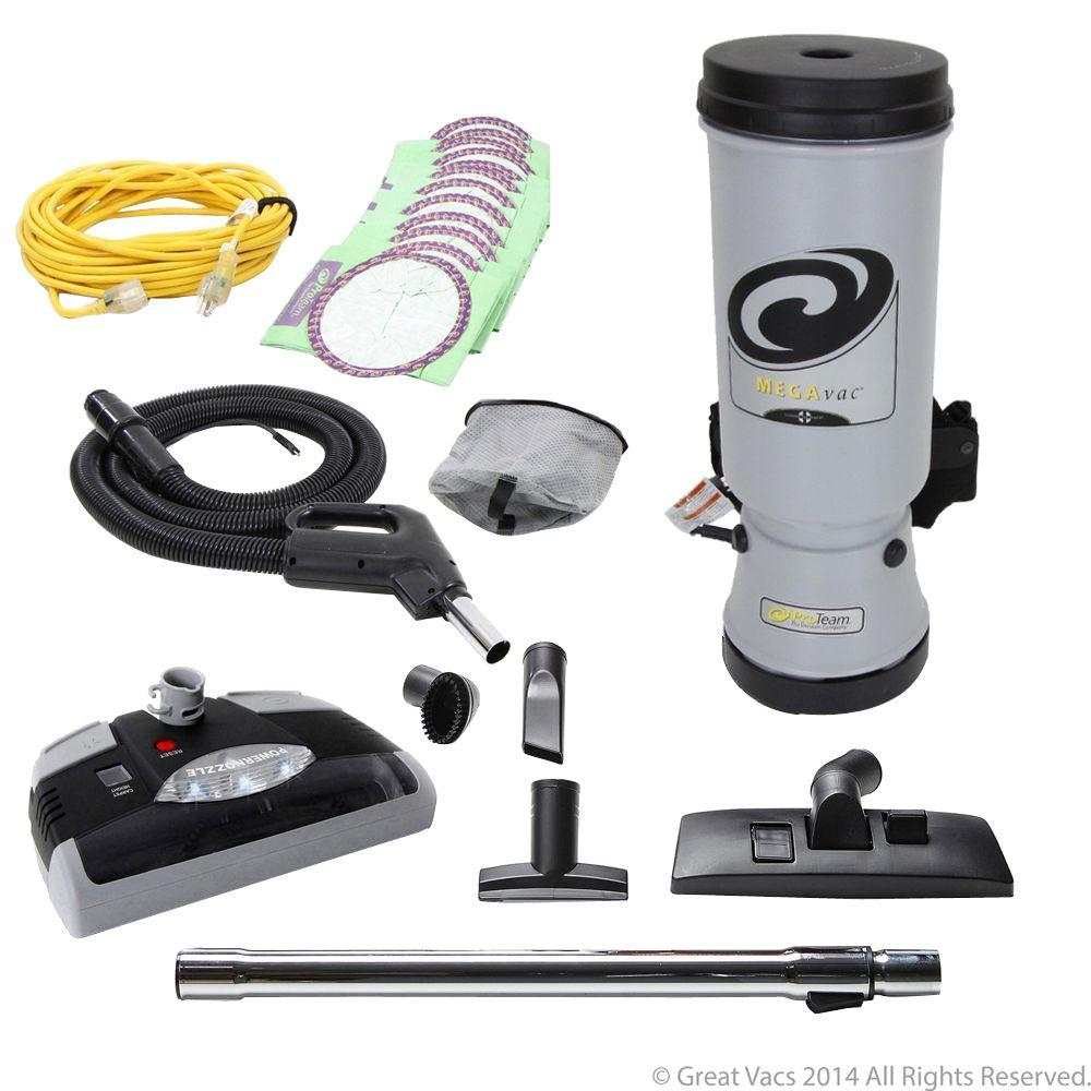 ProTeam 10 Qt. Backpack Vacuum Cleaner with Power Nozzle and Pro Kit Attachment Set