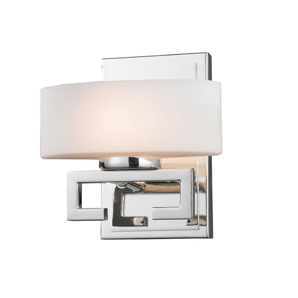 Antonia 1-Light Chrome Halogen Bath Vanity Light