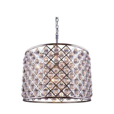 Madison 8-Light Polished Nickel Chandelier with Clear Crystal