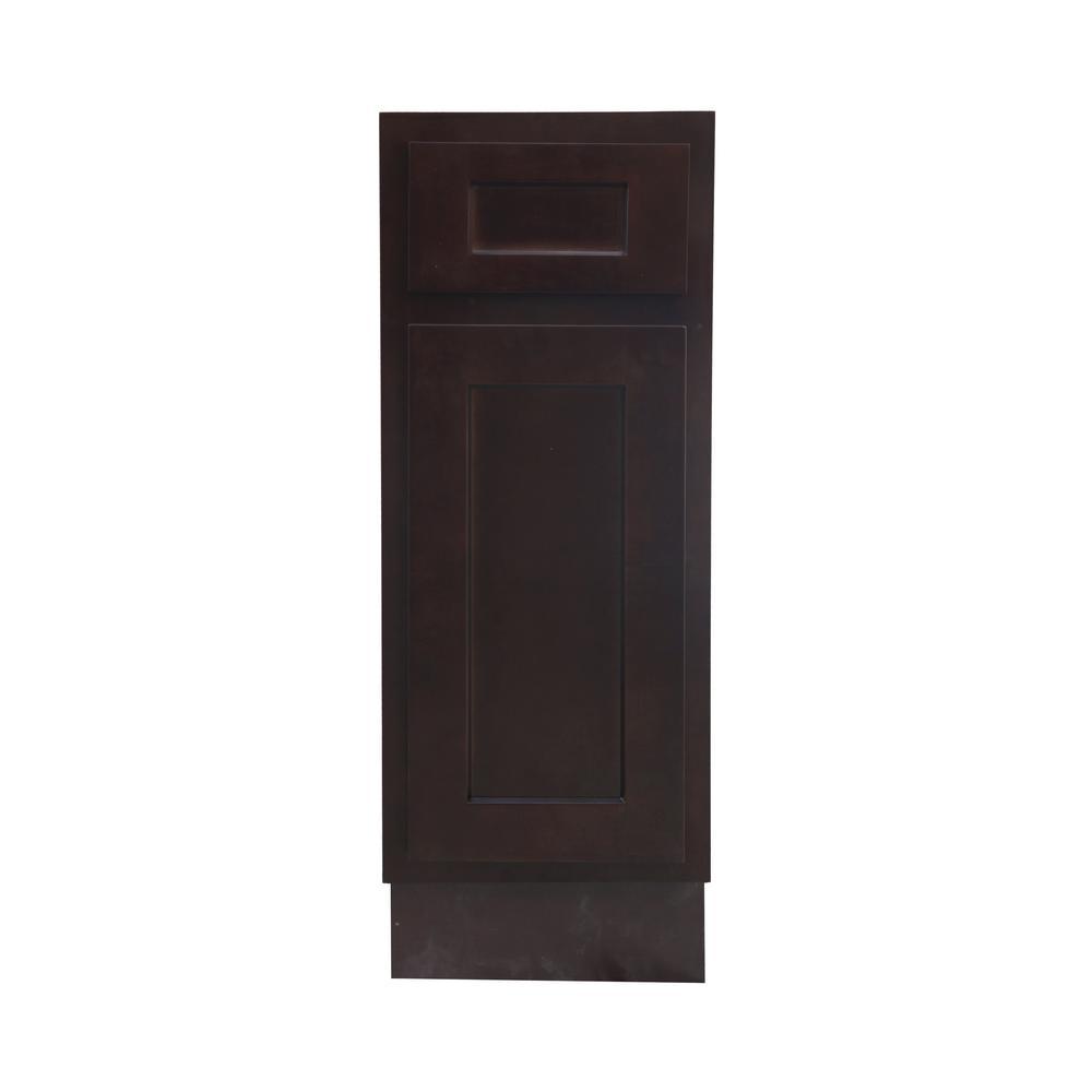 Vanity Art 12 in. W x 21 in. D x 32.5 in. H 1-Drawer Bath Vanity Cabinet Only in Brown