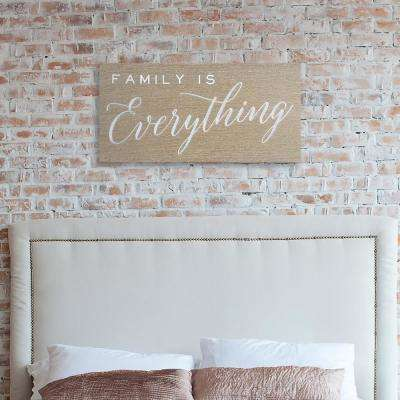 15 in. H x 30 in. W 'Family is Everything' by Wynwood Studio Printed Framed Canvas Wall Art