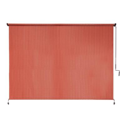 Terracotta Cordless UV Blocking Fade Resistant Polypropylene Exterior Roller Shade 96 in. W x 72 in. L