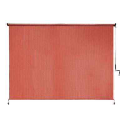 80% UV Block Cordless HDPE Terracotta Exterior Roller Shade - 96 in. W x 72 in. L