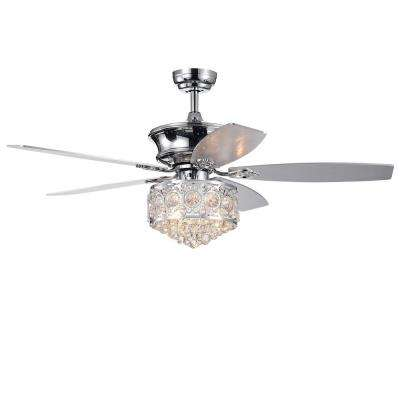 Hasna 52 in. Indoor Chrome Remote Controlled Ceiling Fan with Light Kit