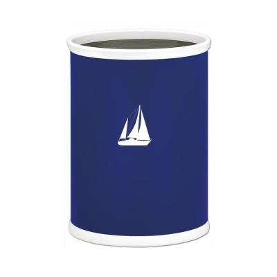 Kasualware Sailboat 13 Qt. Oval Waste Basket in Blue