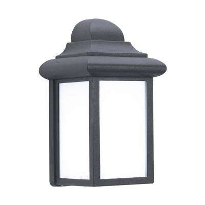 Mullberry Hill 1-Light Black Outdoor Wall Lantern Sconce