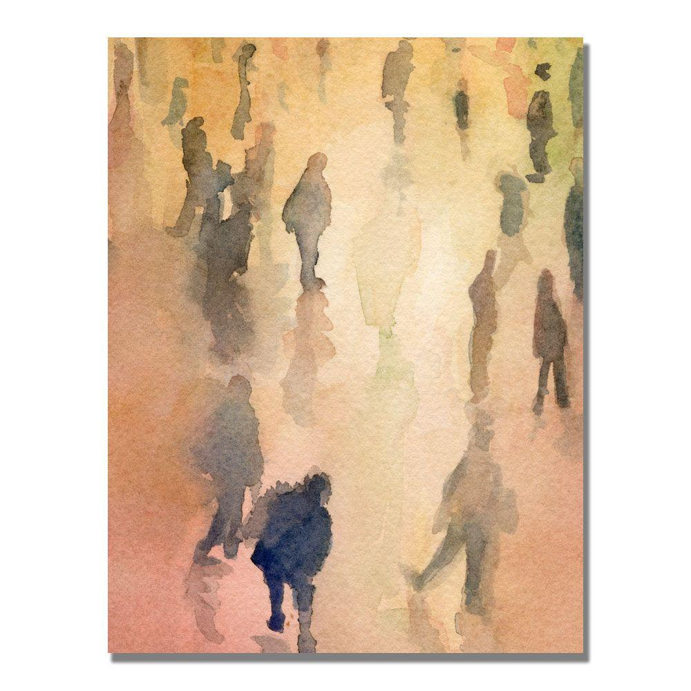null 35 in. x 47 in. Figures Grand Central New York Canvas Art-DISCONTINUED