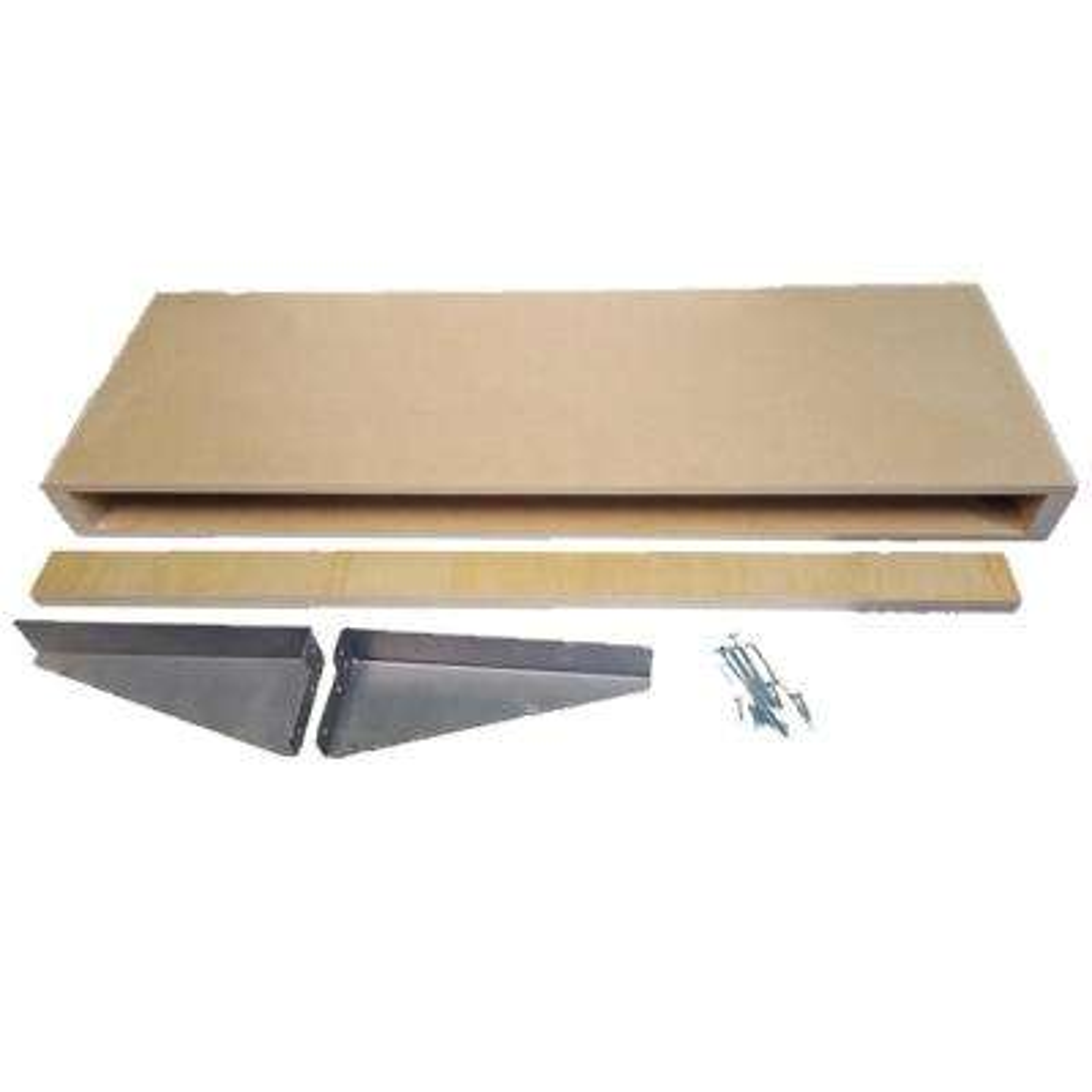 10 in. x 30 in. x 2-1/2 in. MDF Paint Grade Wood Floating Wall Shelf