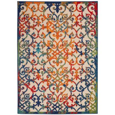 Aloha Multicolor 7 ft. x 10 ft. Indoor/Outdoor Area Rug