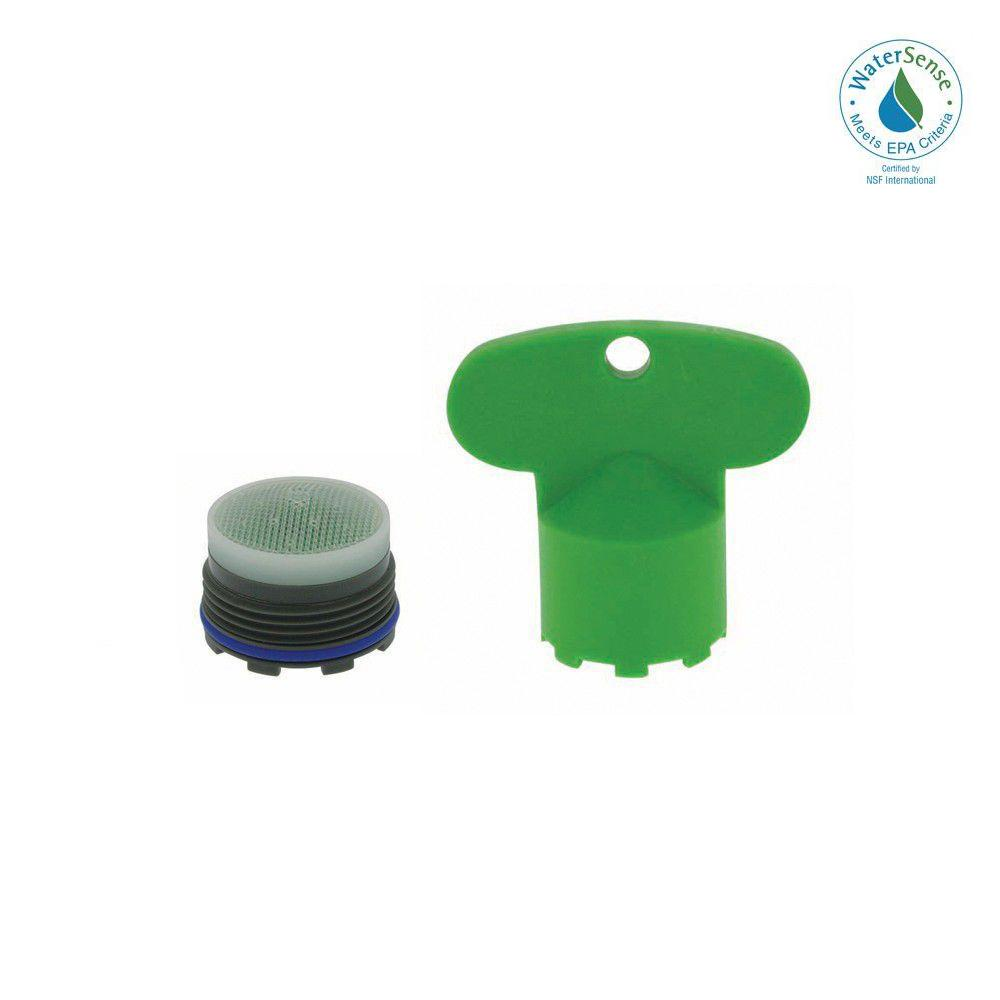 NEOPERL NEOPERL 1.5 GPM Tiny Junior Size M18.5x1 PCA Cache Water-Saving Aerator with Key, Green
