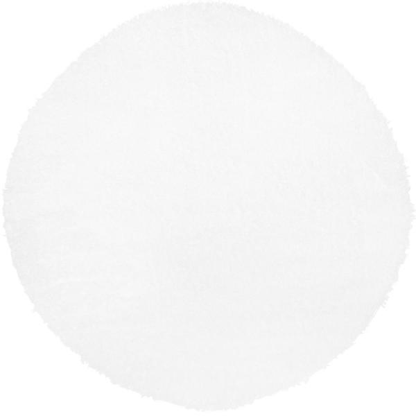 Carmela Ivory Solid Shag 7 ft. 10 in. Round Indoor Area Rug