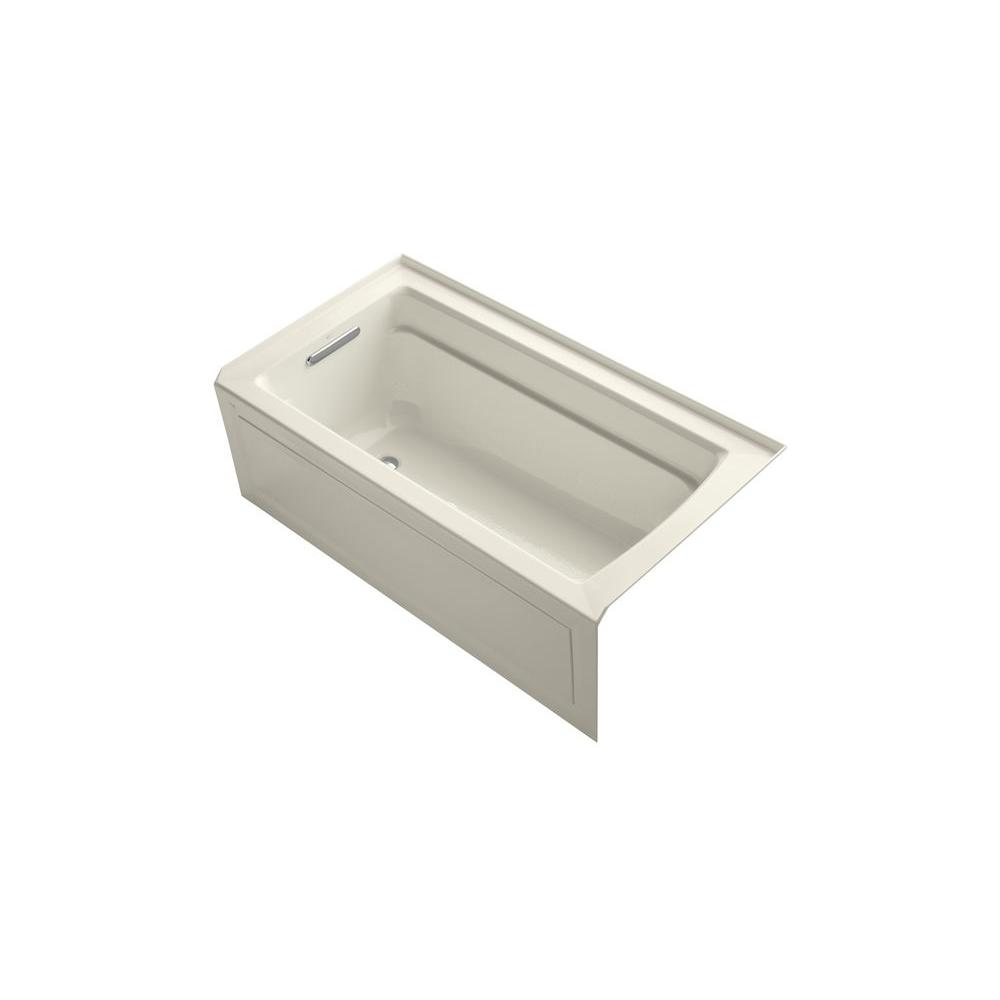 KOHLER Archer 5 ft. Whirlpool Tub in Biscuit