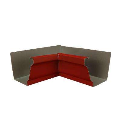 6 in. Red Aluminum Inside Box Gutter Miter