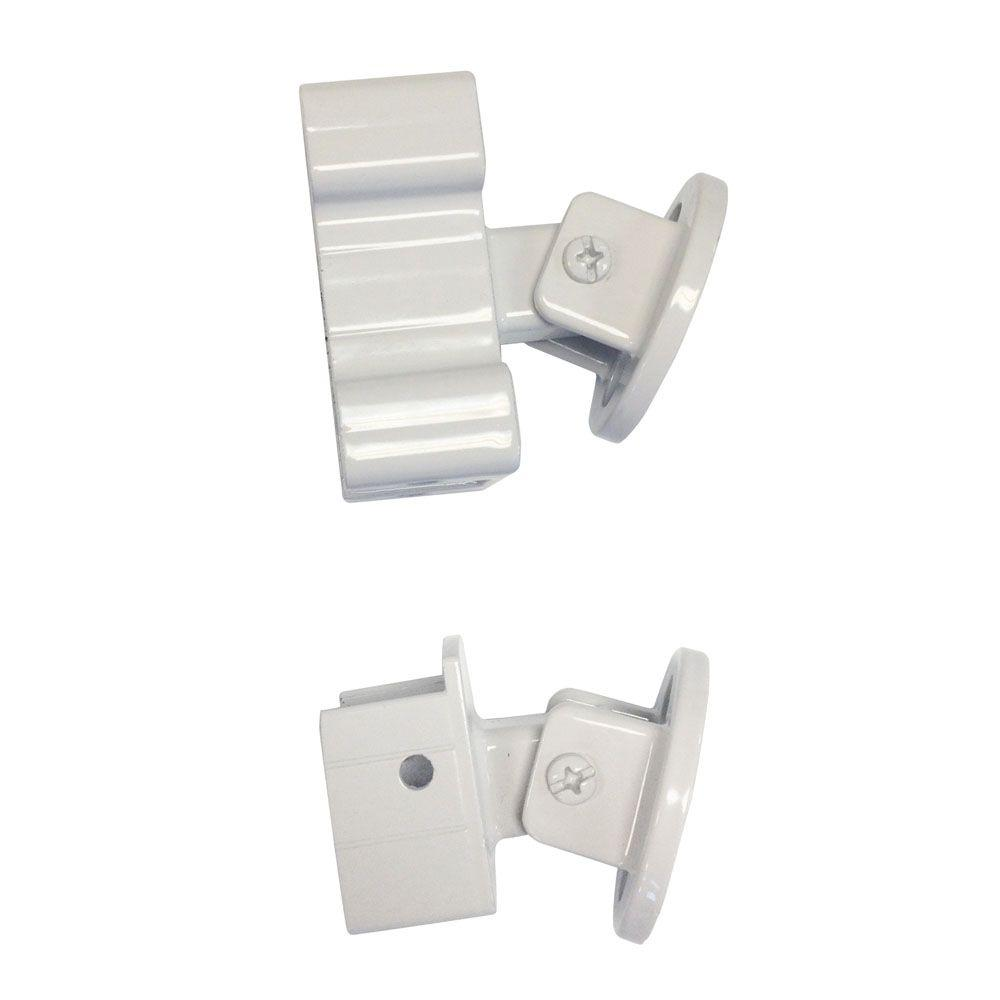 Peak Aluminum Railing White Aluminum Stair Rail Bracket Kit