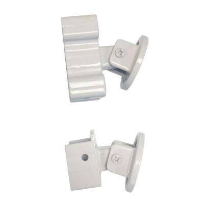 White Aluminum Stair Rail Bracket Kit