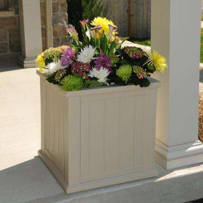 Cape Cod 20 in. Square Clay Plastic Planter