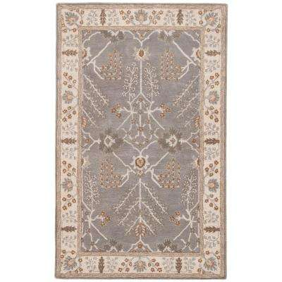 Charcoal Gray 8 ft. x 10 ft. Oriental Area Rug