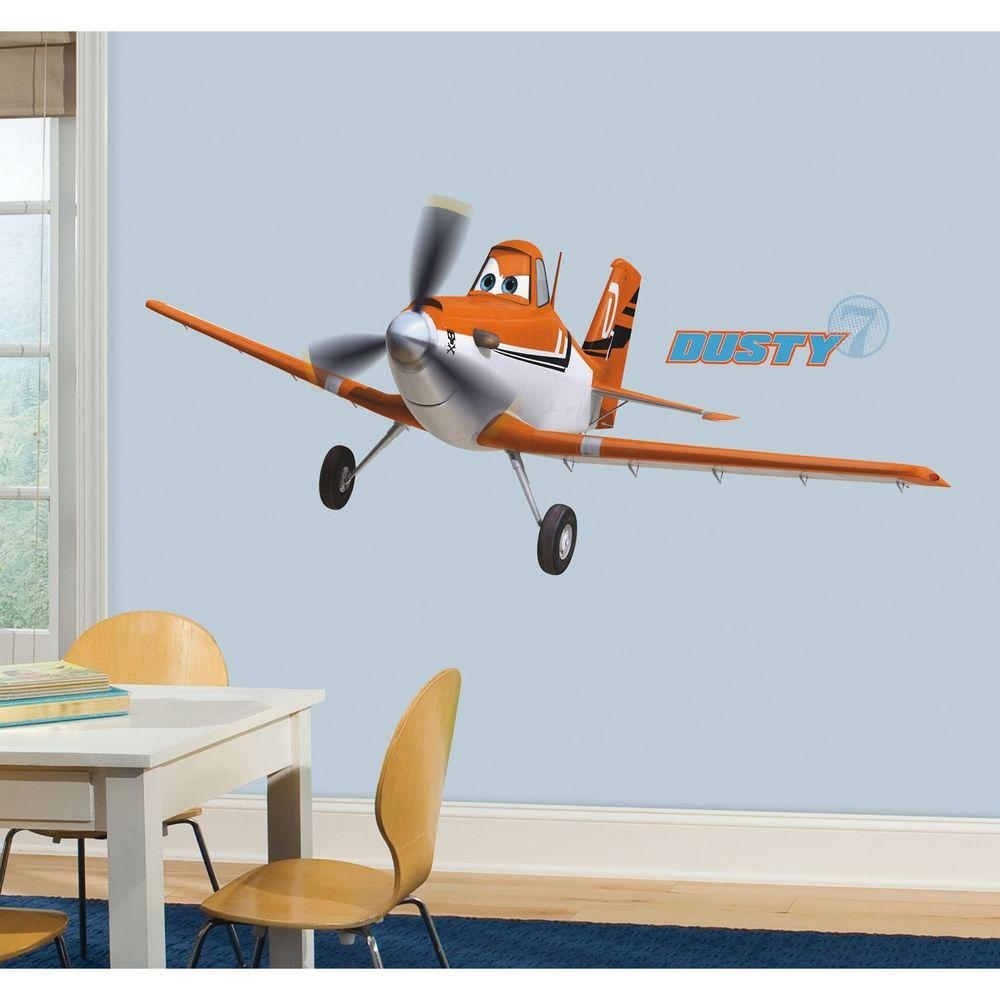 RoomMates 5 in. x 19 in. Planes Dusty Crophopper Peel and ...