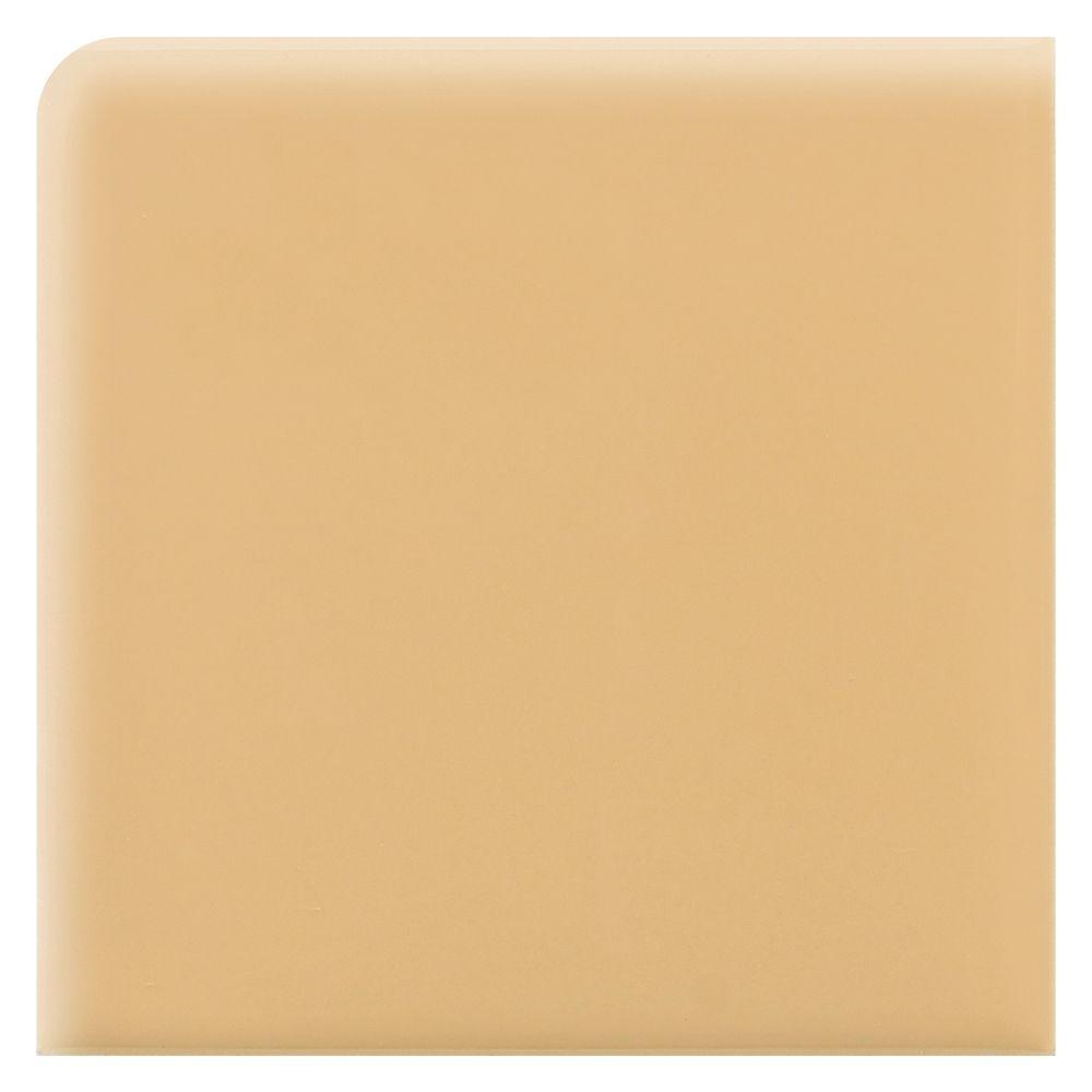Daltile Liners Luminary Gold 2 in. x 2 in. Ceramic Bullnose Corner Wall Tile