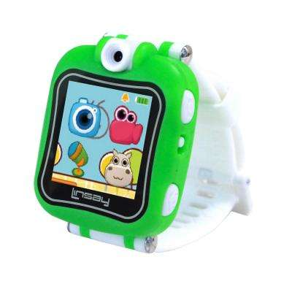 1.5 in. Smart Watch Kids Cam Selfie, Green