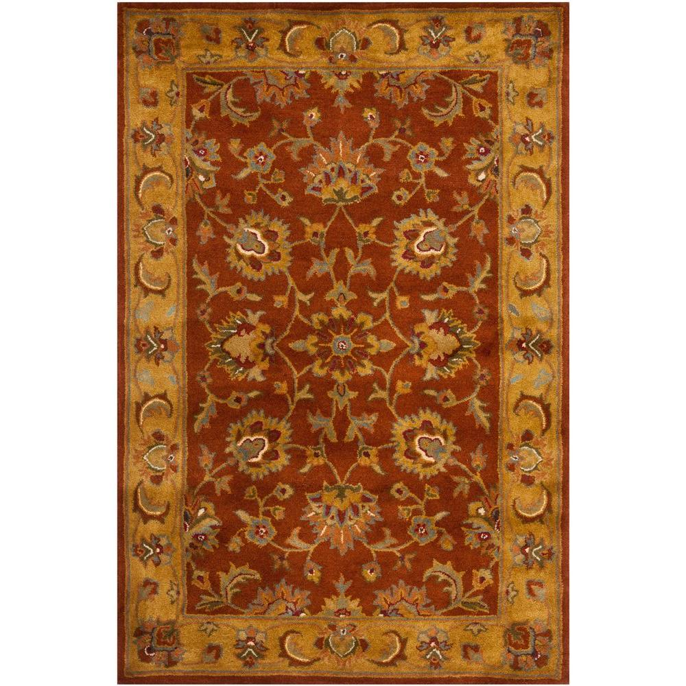 Safavieh Heritage Red Natural 3 Ft X 5 Ft Area Rug