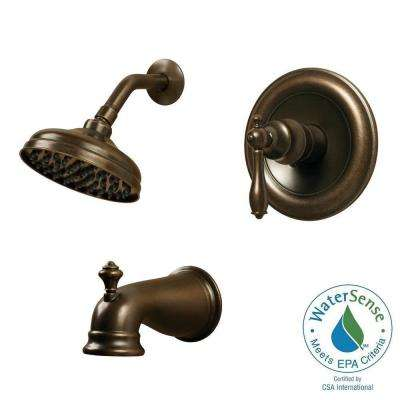 Estates Series Single-Handle 1-Spray Shower Faucet in Heritage Bronze (Valve Included)