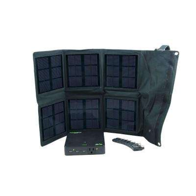 18-Watt Folding Monocrystalline Solar Panel Charger with Power Bank Elite 25 Rechargeable Battery Pack