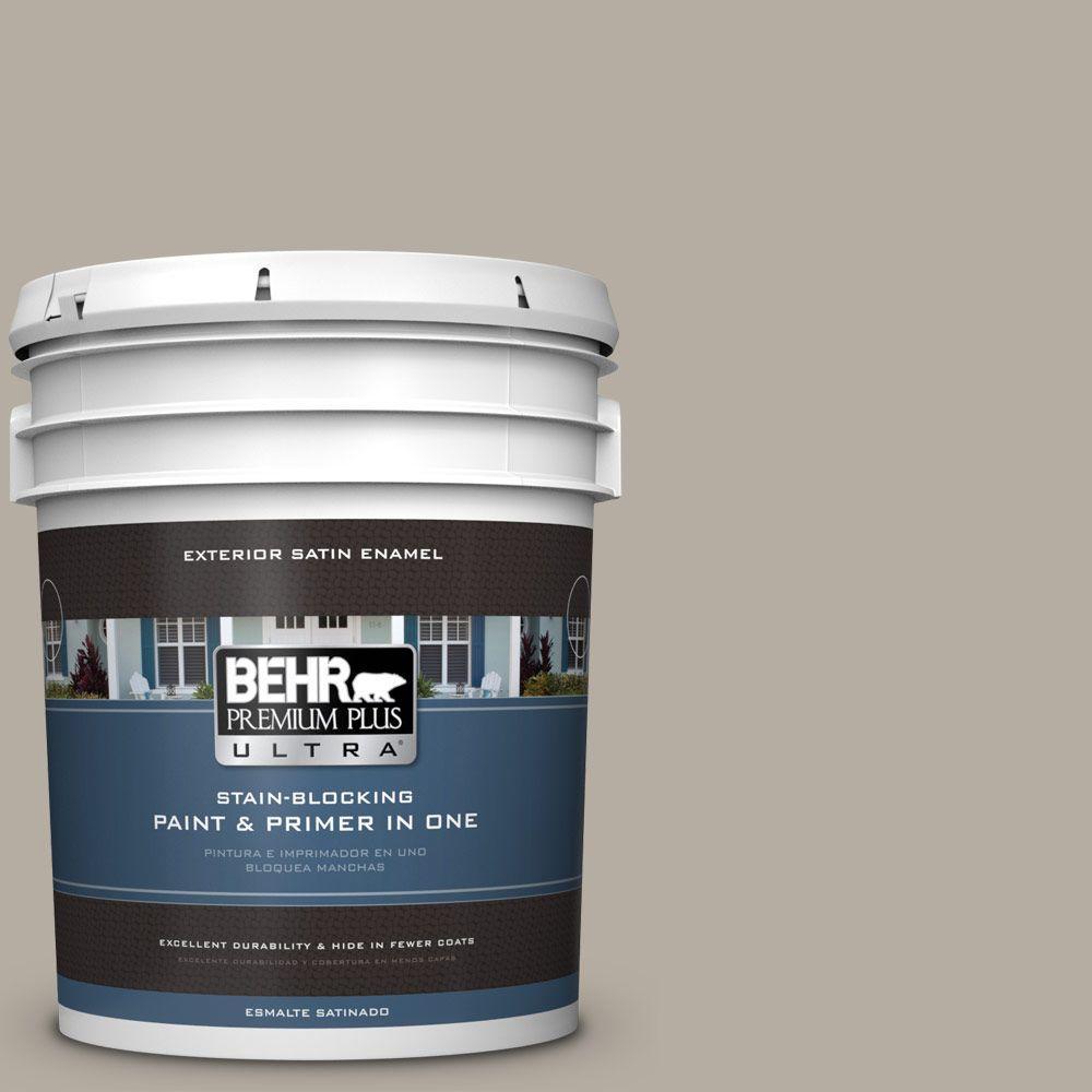 BEHR Premium Plus Ultra 5-gal. #PPU18-13 Perfect Taupe Satin Enamel Exterior Paint